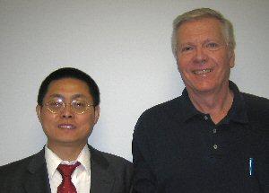 Xiaobo Peng and Dr. Robert Brazile