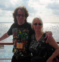 Dr. Parberry and his wife, Virginia, on the cruise.