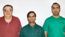 (L-R) Elias Kouganias, Saraju Mohanty, Dhruva Ghai