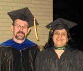 Dr. Armin Mikler with Vandana Gunupudi