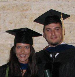 Rada Mihalcea and AndrasCsomai at graduation