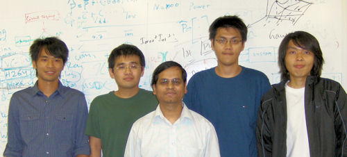 (L-R) Shu-Song Chen, Li-Te Lee, Dr. Mohanty, Yu-Ting Pai, and Jih-Chieh Hsu