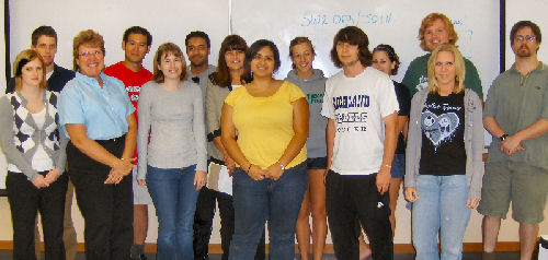 Attendance at the first UNT SWE meeting on September 4, 2008.