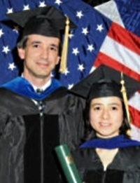 Ping Yu with Dr. Tate at graduation