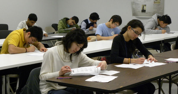 High school students participating in the NACLO competition.