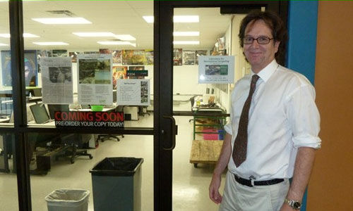 Ian Parberry at entrance to the new LARC lab