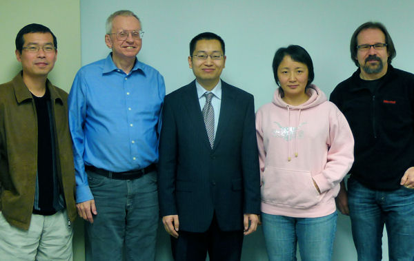 Dr. Chengyang Zhang and his dissertation committee